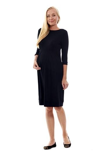 Motherway Maternity Elbise Siyah